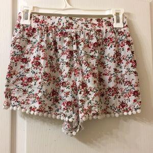 Floral Flowy Shorts